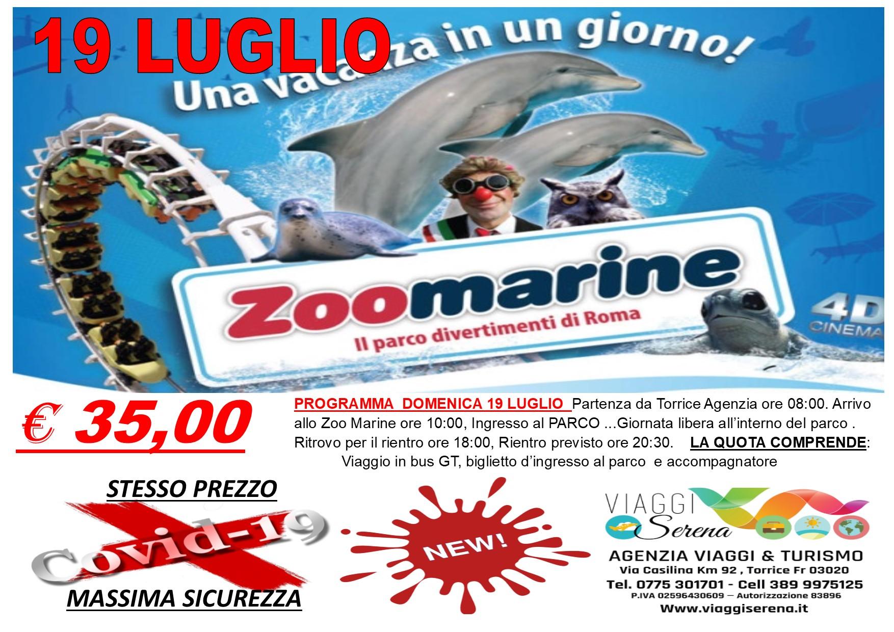 Viaggi di Gruppo: ZOO MARINE parco divertimento 19 LUGLIO €35,00
