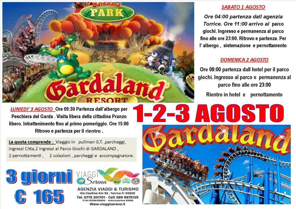 Viaggi di Gruppo: Parco divertimenti GARDALAND 1-2-3 Agosto Euro 165,00
