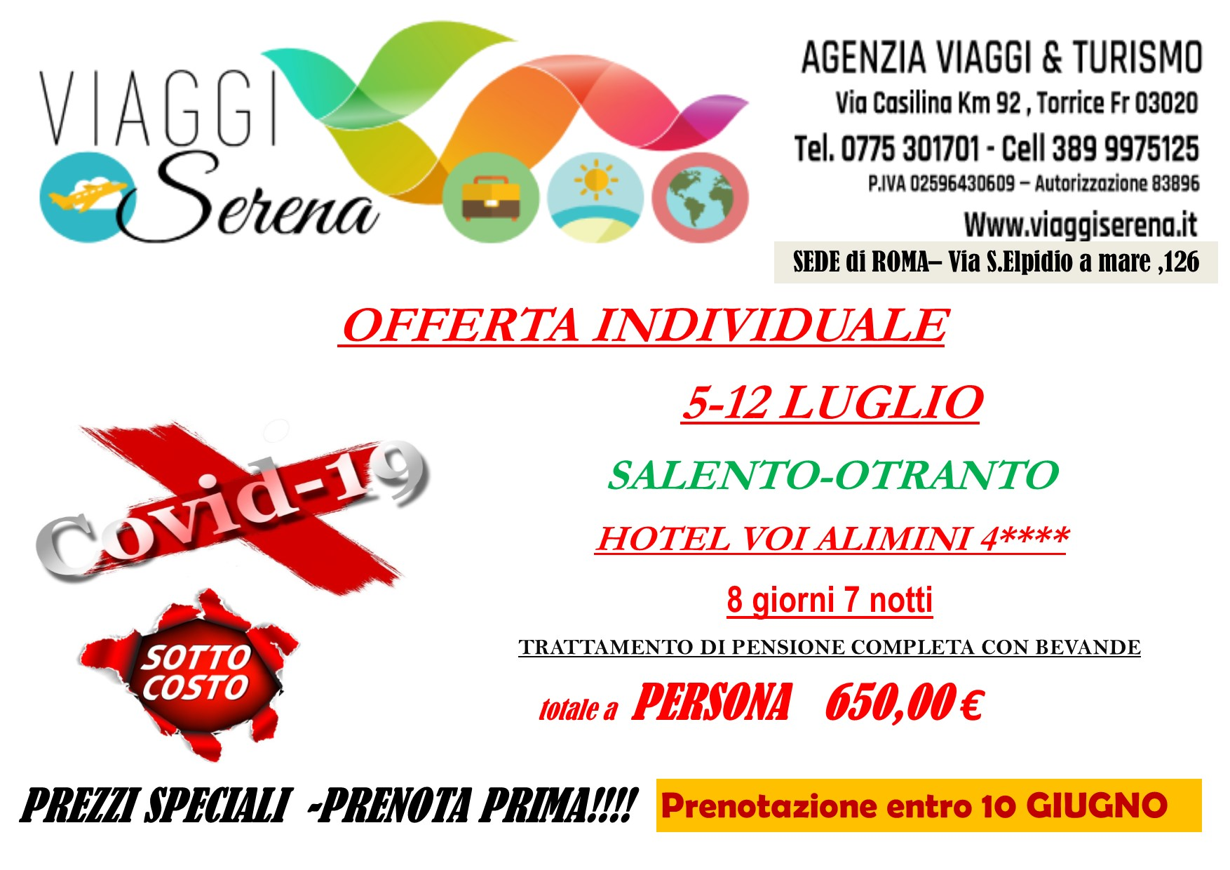 Viaggi individuali: offerte MARE ITALIA….SOTTOCOSTO!!!