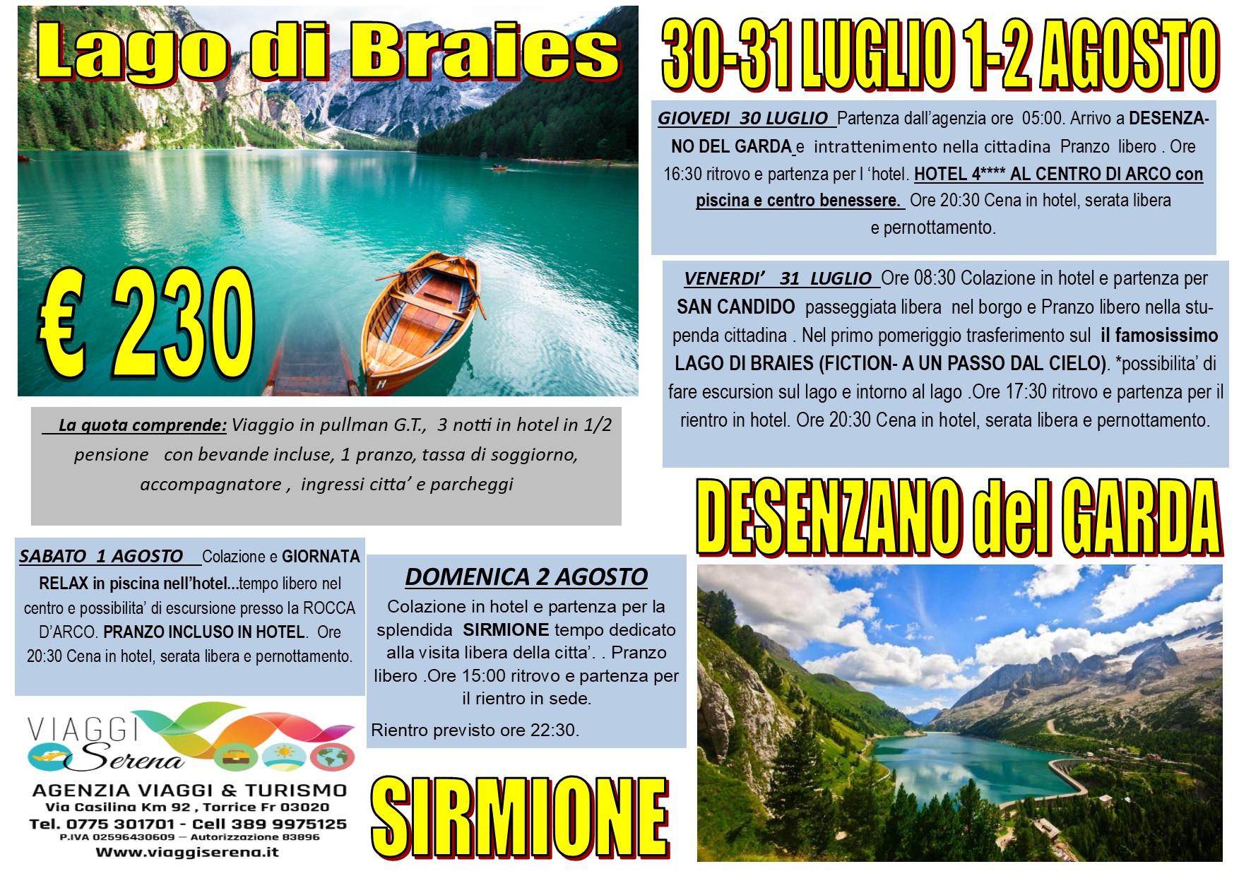 Viaggi di Gruppo: Straordinario LAGO di BRAIES 30-31 Luglio & 1-2 Agosto €230,00