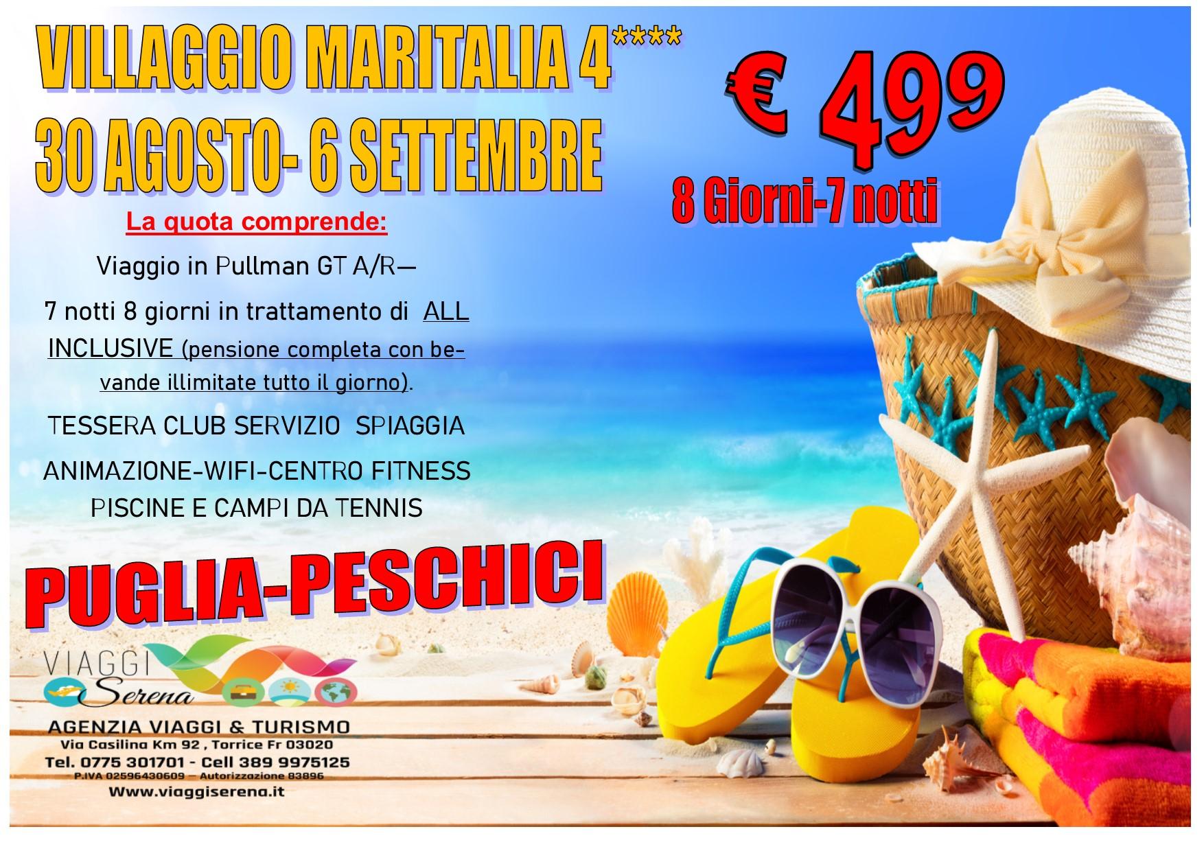 """Viaggi di Gruppo: Soggiorno mare PUGLIA """"PESCHICI"""" 30 Agosto-6 Settembre € 499,00"""