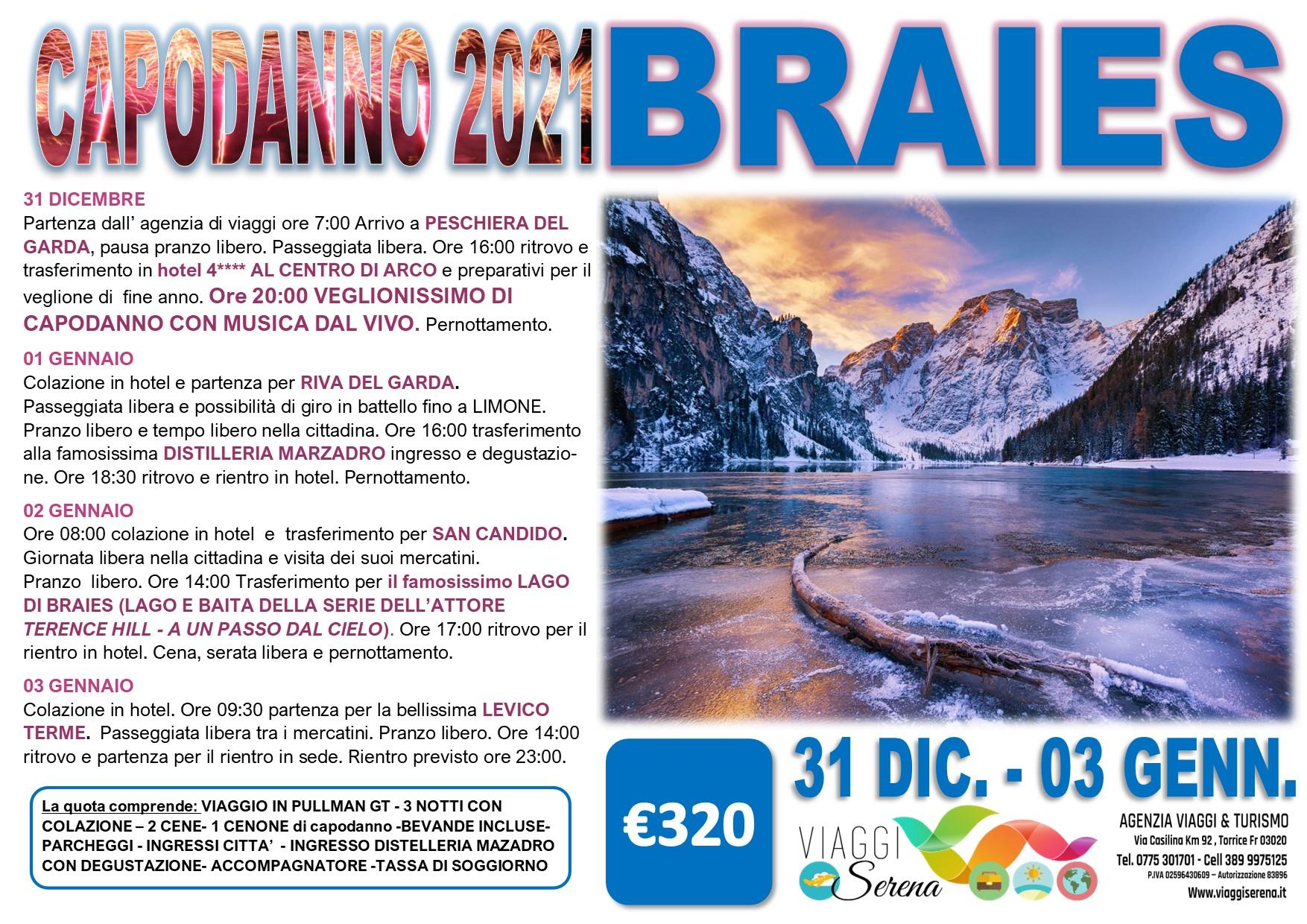 Viaggi di Gruppo speciale Capodanno: LAGO di BRAIES 31 Dicembre- 3 Gennaio € 320,00