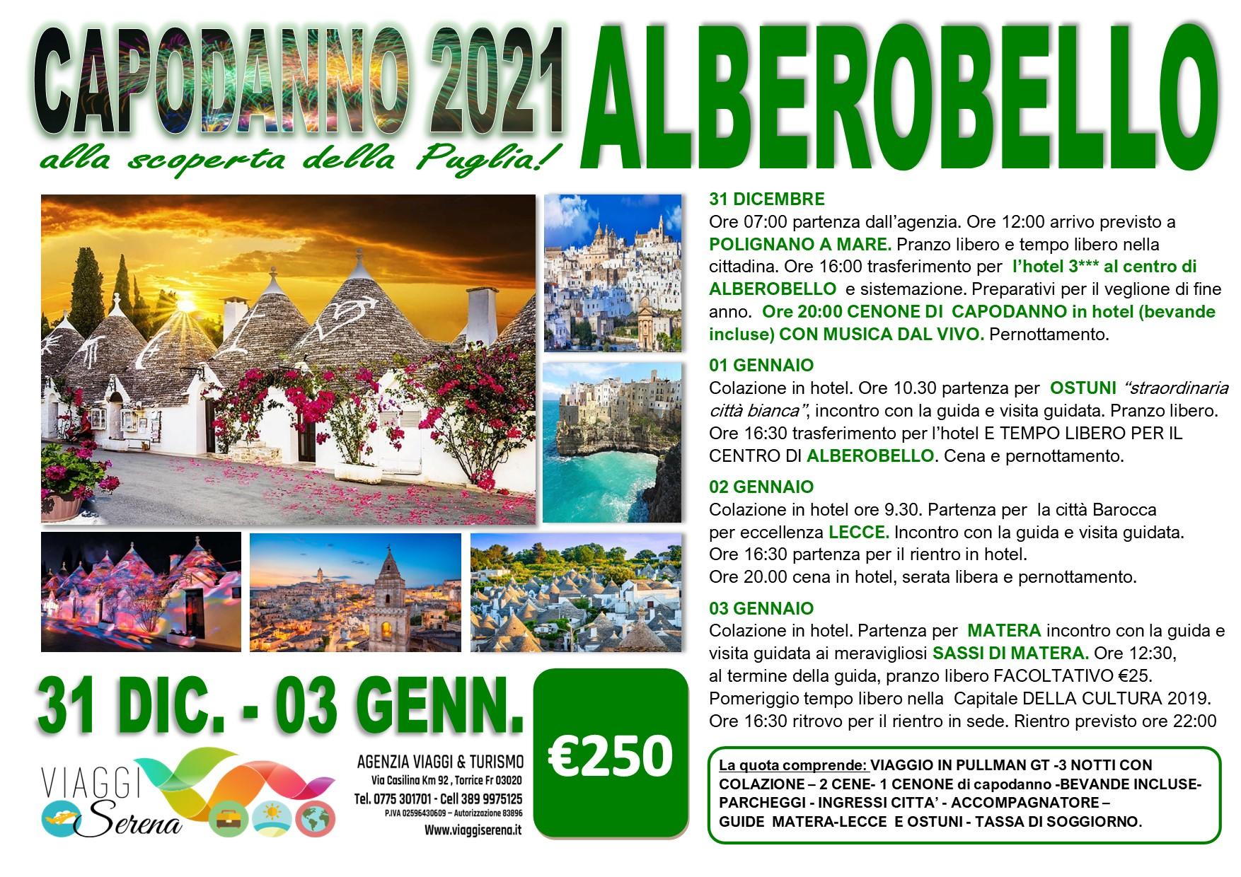 Viaggi di Gruppo speciale Capodanno: PUGLIA 31 Dicembre- 3 Gennaio € 250,00