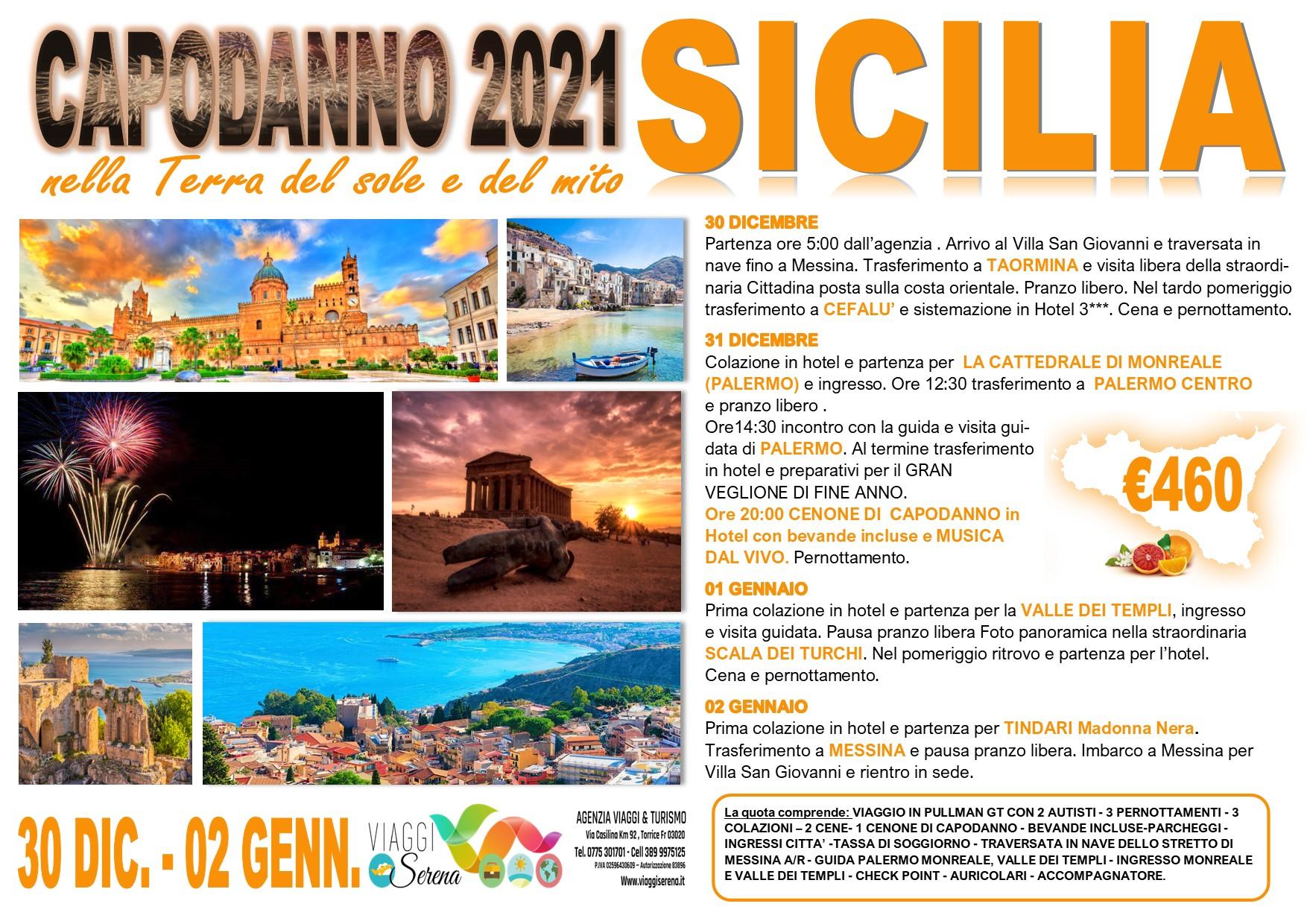 Viaggi di Gruppo speciale Capodanno NOVITA' : SICILIA  30 Dicembre- 2 Gennaio € 460,00