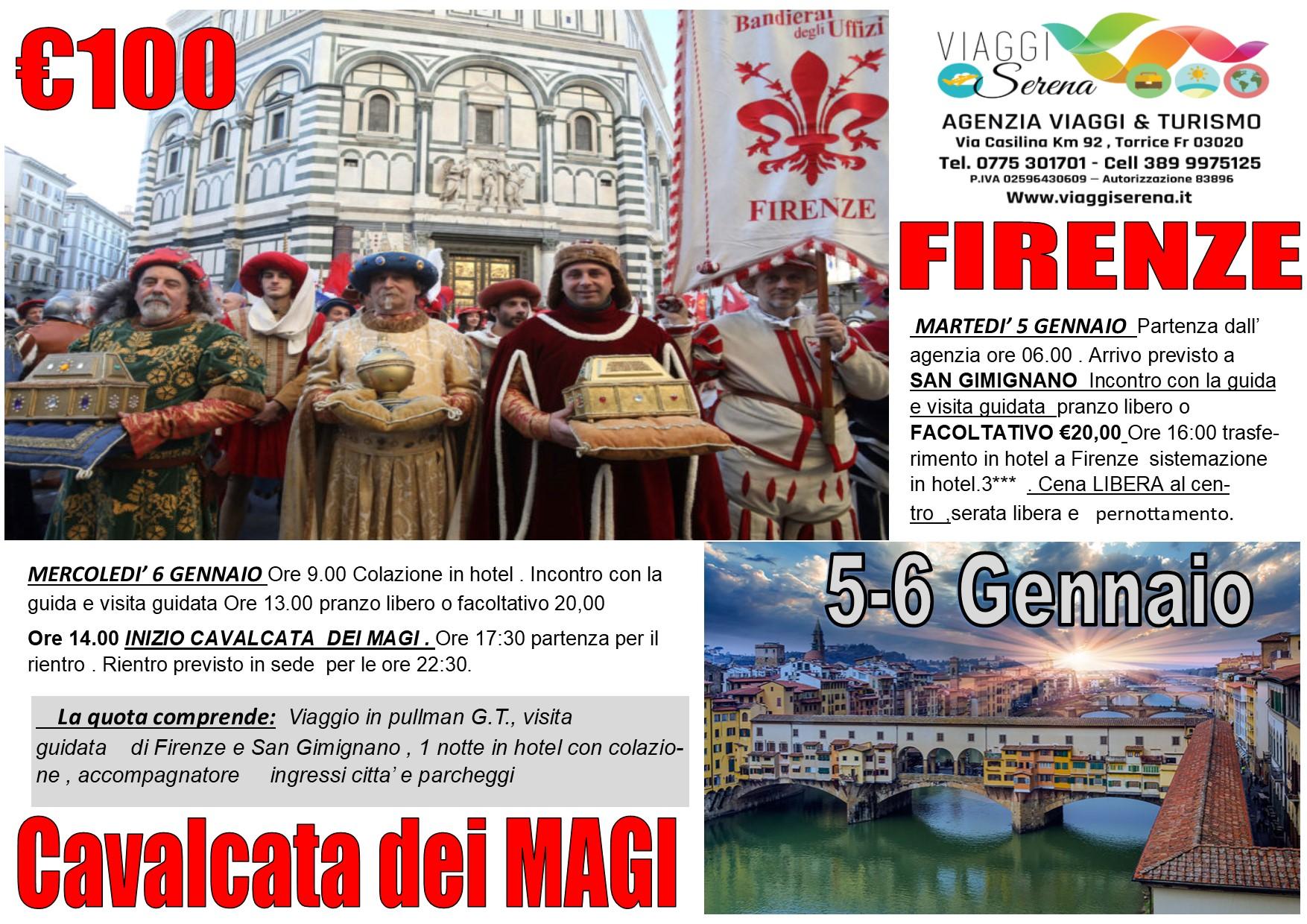 """Viaggi di Gruppo: FIRENZE """"Cavalcata dei Magi""""  & San Gimignano 5-6 Gennaio  € 100,00"""