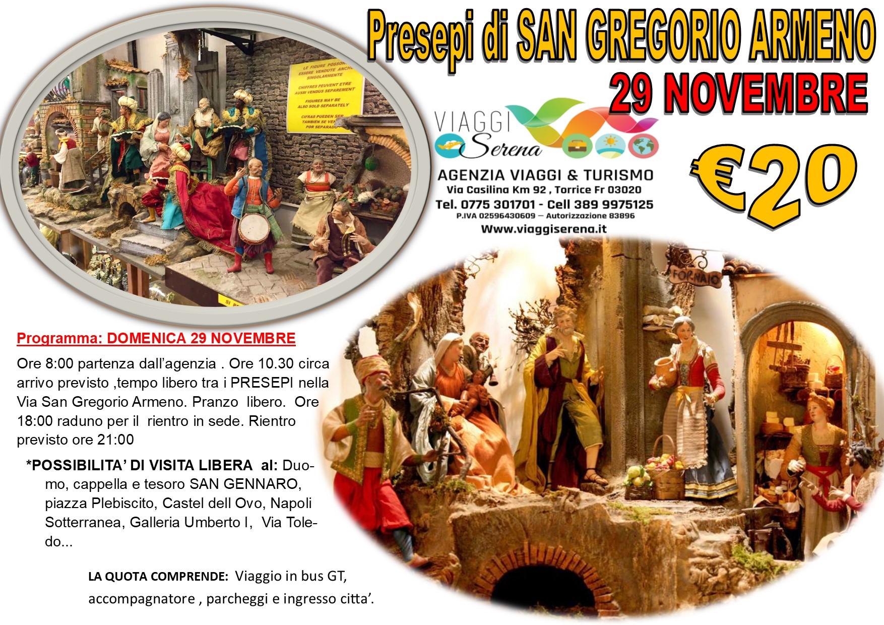 """Viaggi di Gruppo: Presepi di Napoli """"San Gregorio Armeno"""" 29 Novembre  € 20,00"""