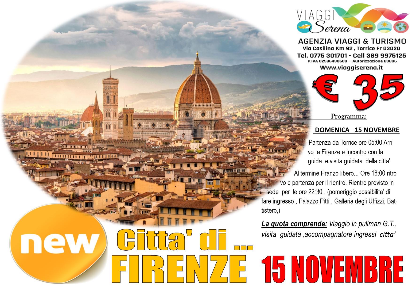 Viaggi di Gruppo: Firenze 15 Novembre € 35,00