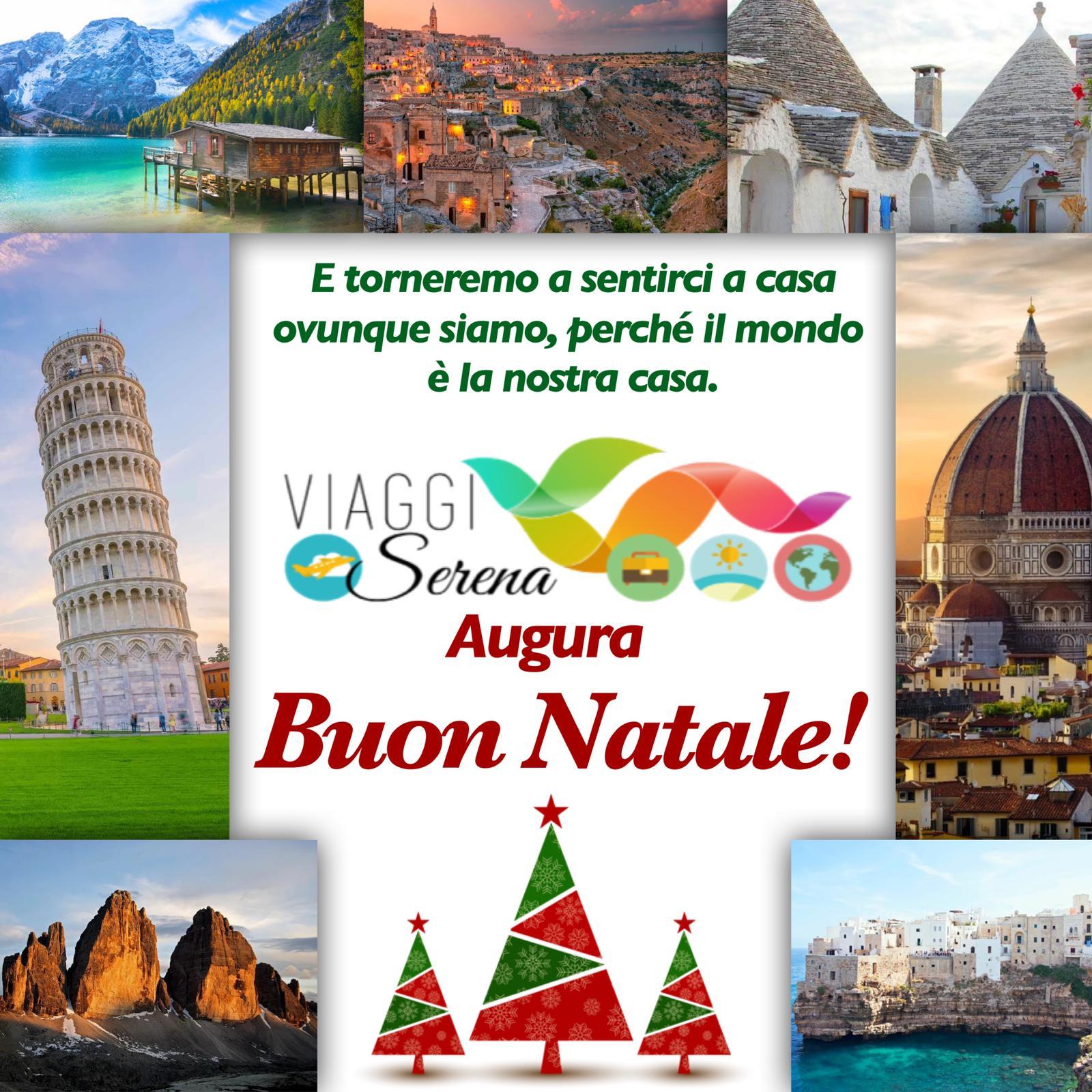Auguri di Buon Natale da tutta l'Agenzia Viaggi Serena! 💫