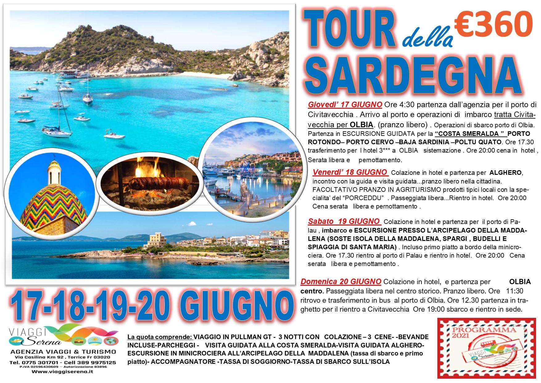 Viaggi di Gruppo: Tour SARDEGNA , Arcipelago della Maddalena, Alghero  & Costa Smeralda 17-18-19-20 Giugno € 360,00