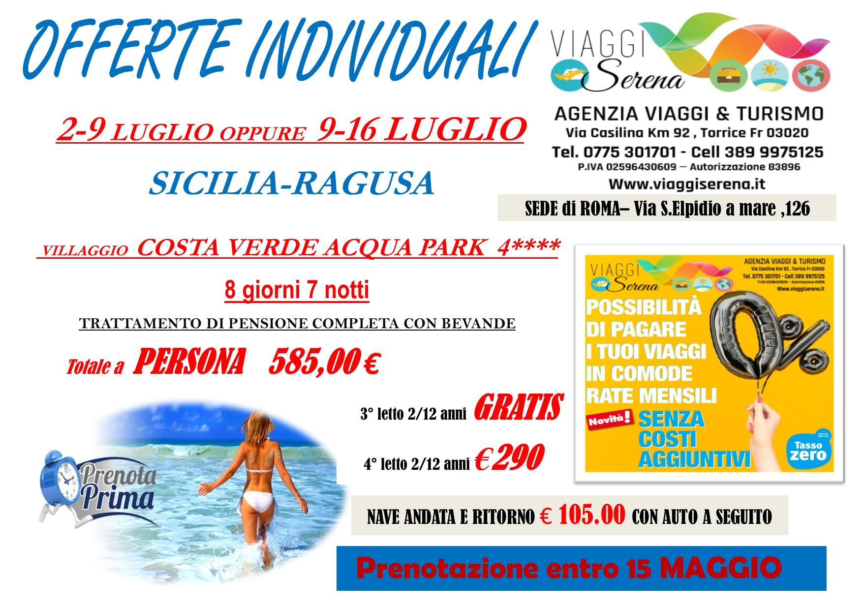 """Offerte Individuali : soggiorno mare con """"prenota prima"""" Sicilia -Cefalu'!!!"""