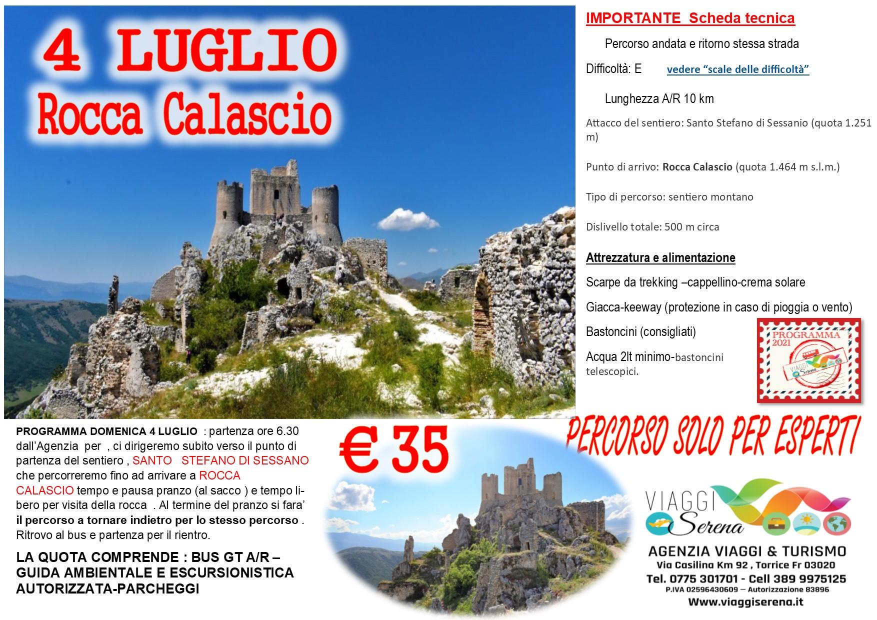 """Viaggi di Gruppo: escursione """"Rocca Calascio"""" 4 Luglio € 35,00"""