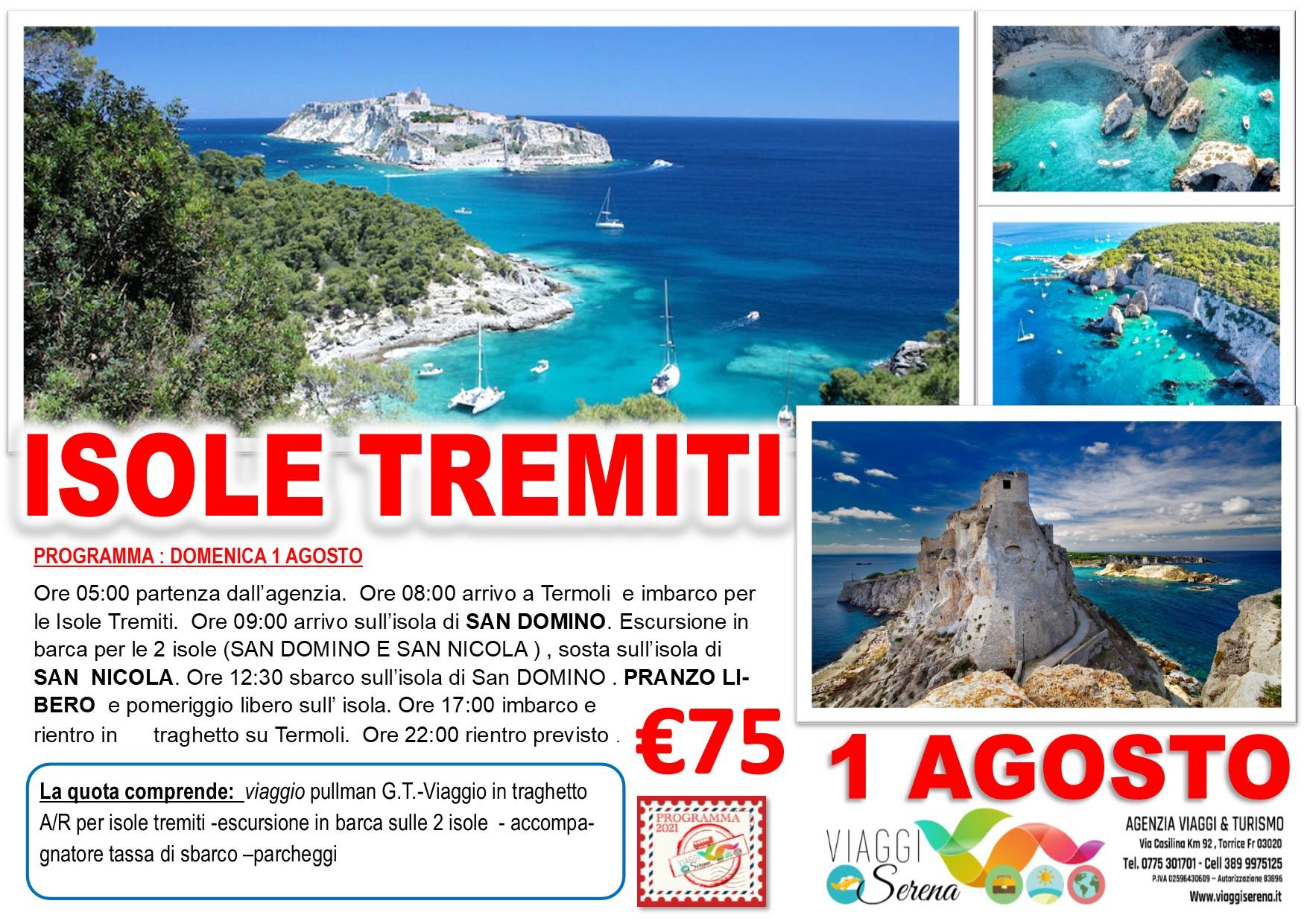 """Viaggi di Gruppo: Isole Tremiti """"Isola di San Domino & Isola di San Nicola"""" 1 Agosto € 75,00"""
