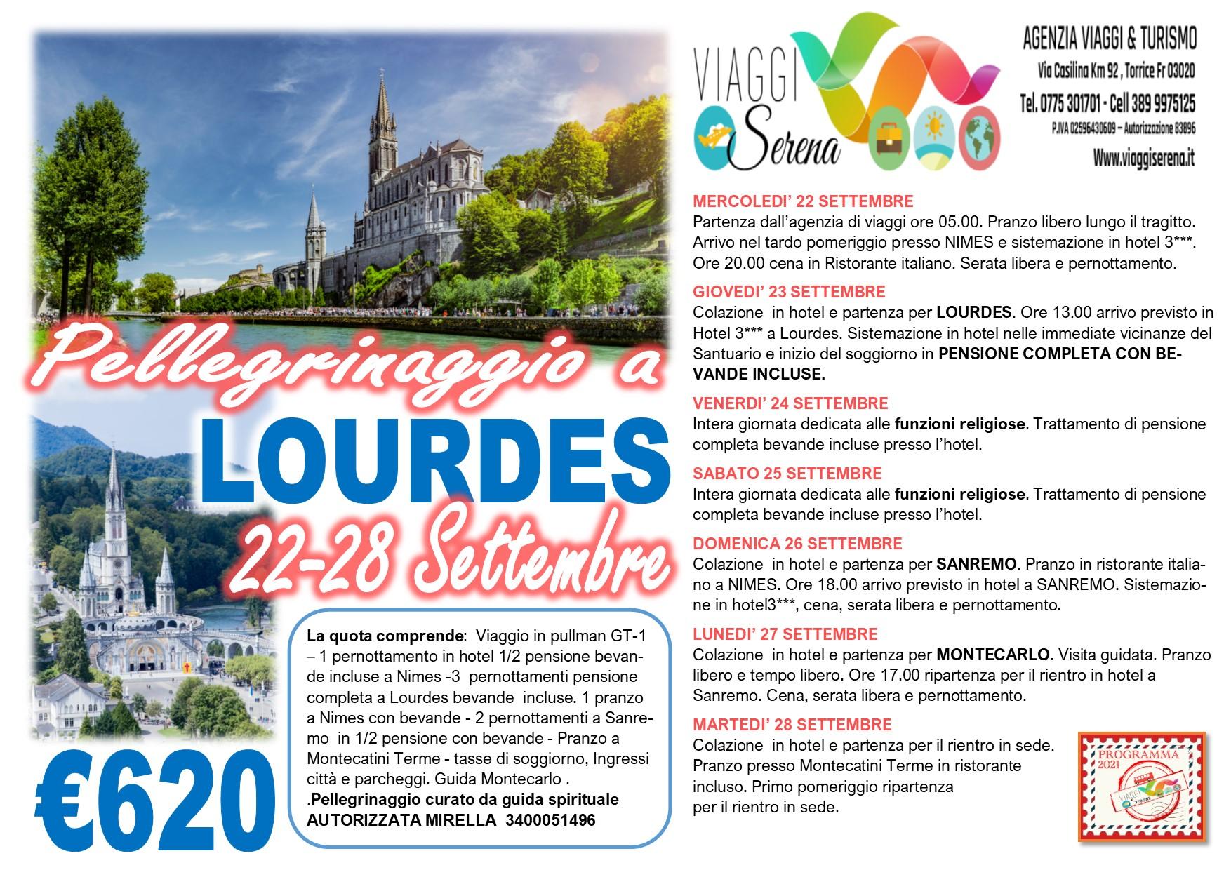 Viaggi di Gruppo: pellegrinaggio Lourdes 22-28 Settembre € 620,00