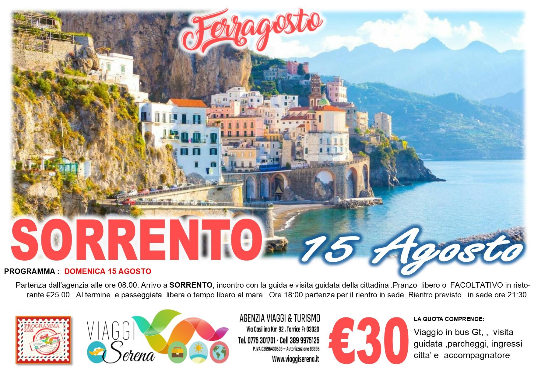 Viaggi di Gruppo: Sorrento 15 Agosto € 30,00
