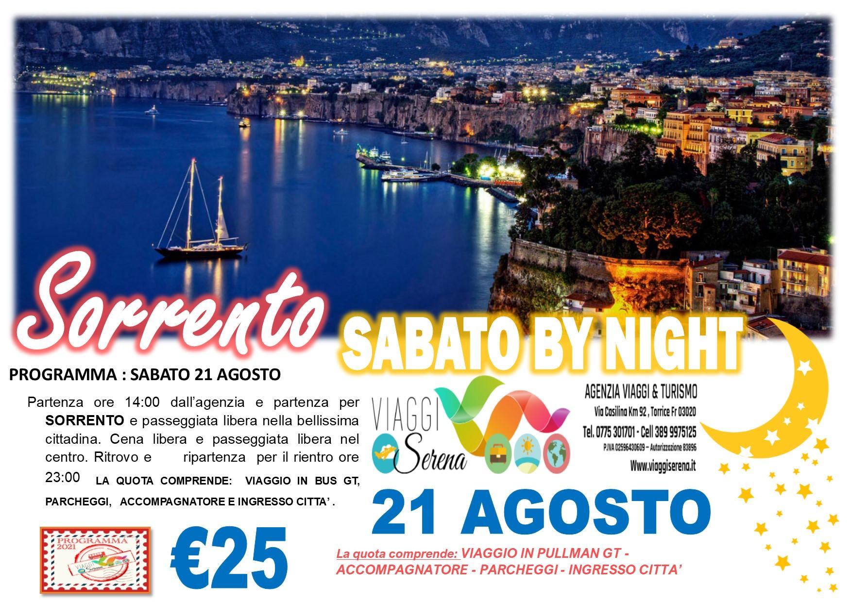 Viaggi di Gruppo: Sorrento by night sabato 21 Agosto € 25,00