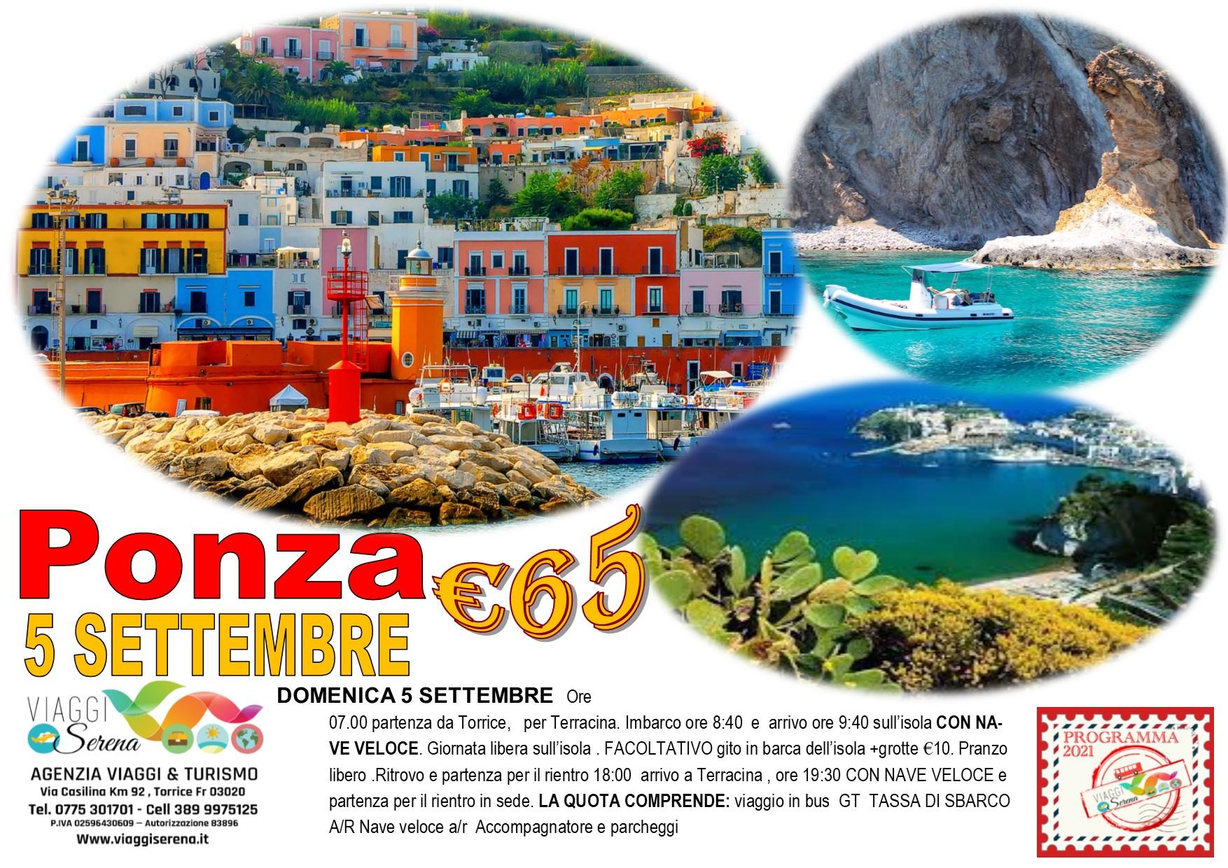 Viaggi di Gruppo:  Isola di PONZA 5 Settembre € 65,00