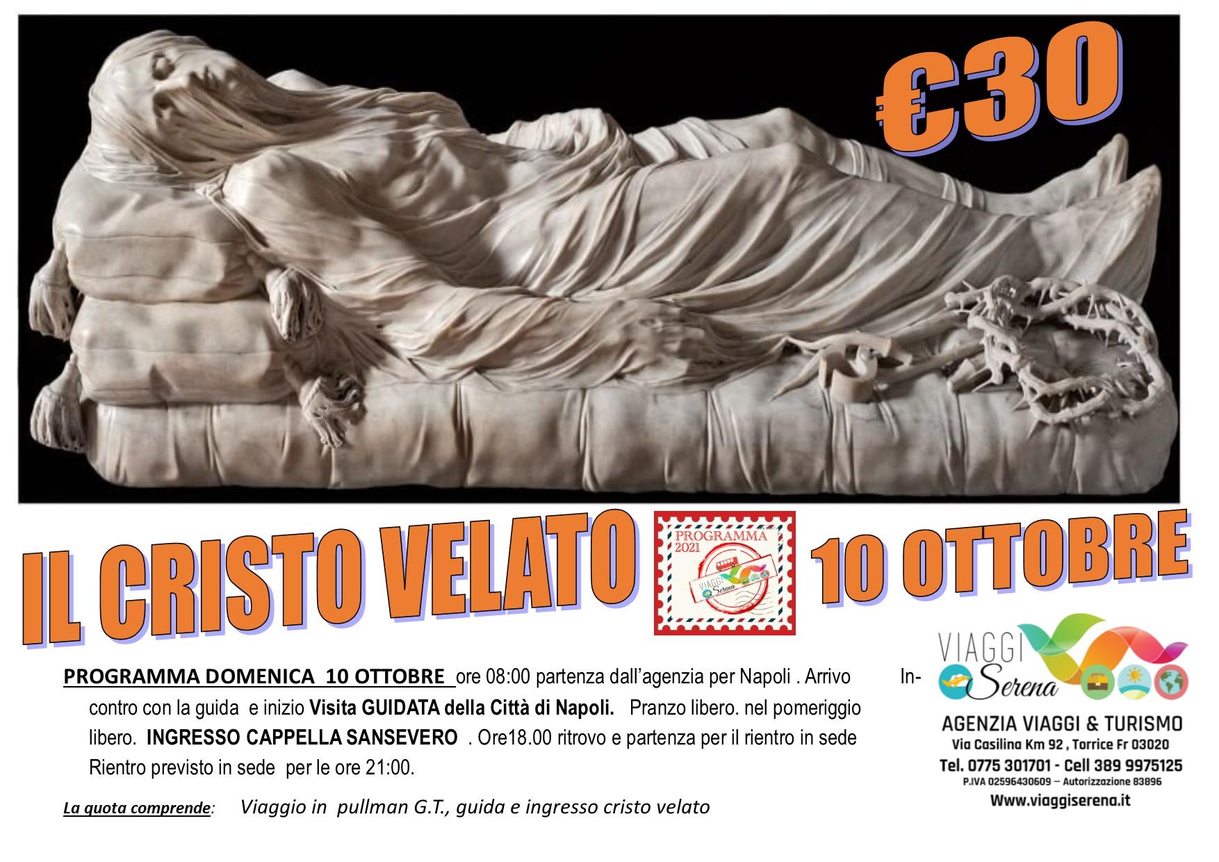 """Viaggi di Gruppo: Cristo Velato """" Cappella Sansevero"""" 10 Ottobre € 30,00"""