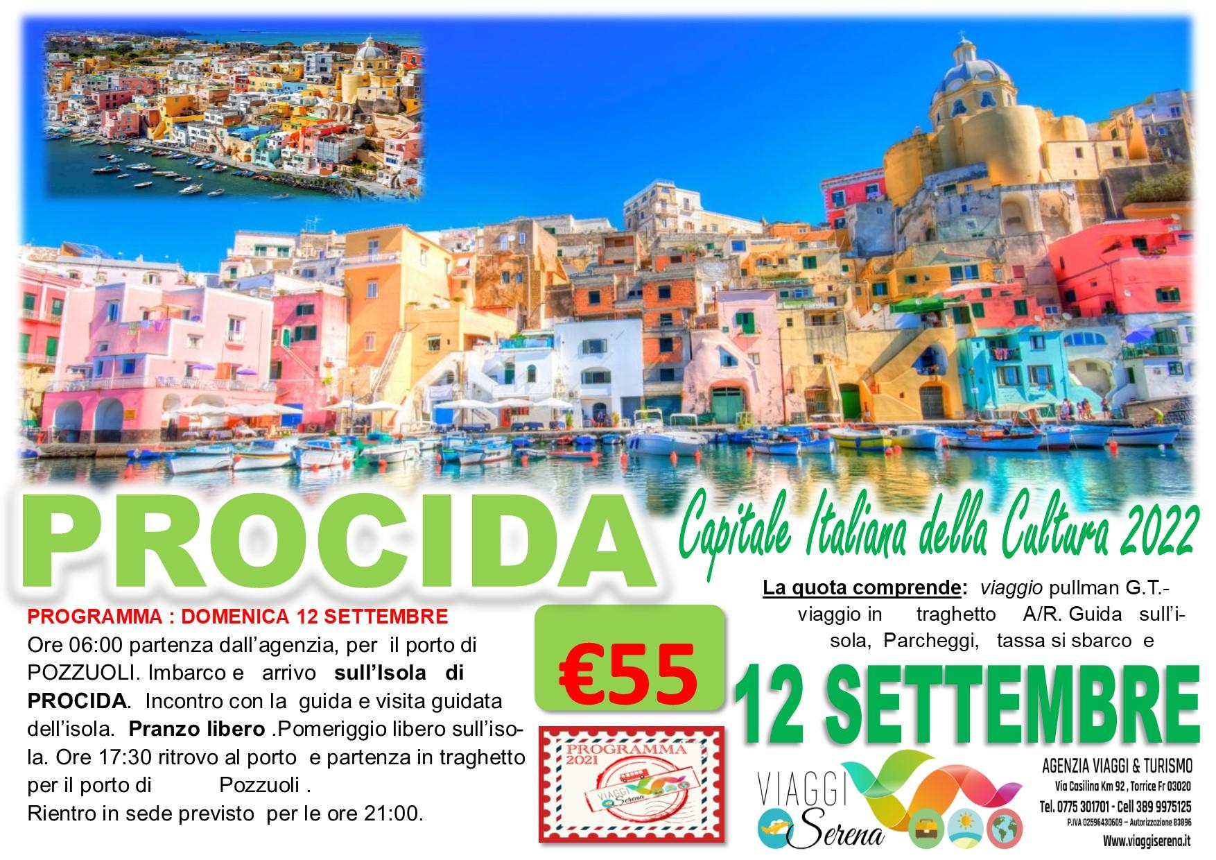 """Viaggi di Gruppo: Isola di PROCIDA """"Capitale Italiana della Cultura 2022"""" 12 Settembre € 55,00"""