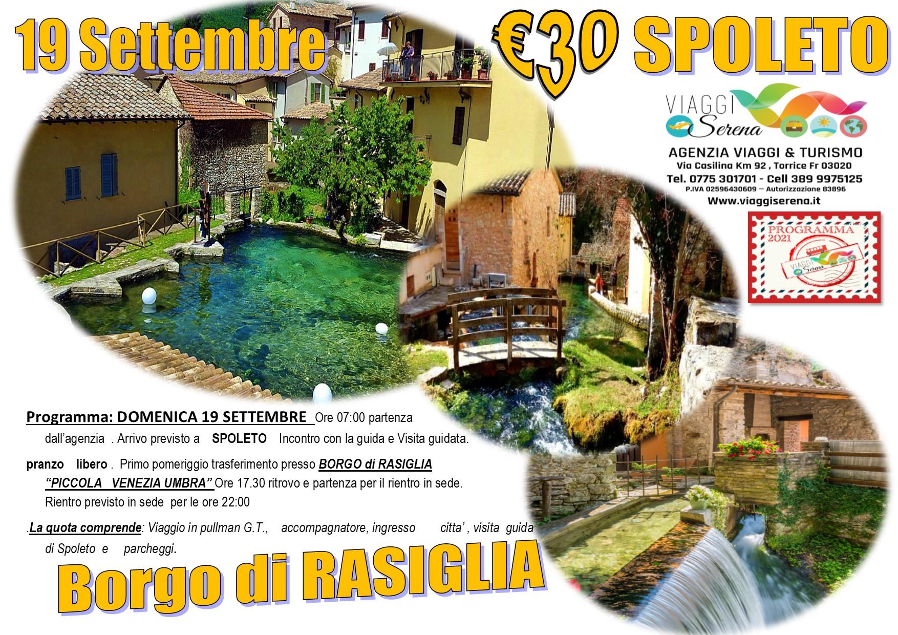 """Viaggi di Gruppo: Spoleto & Rasiglia """"la piccola Venezia"""" 19 Settembre  € 30,00"""