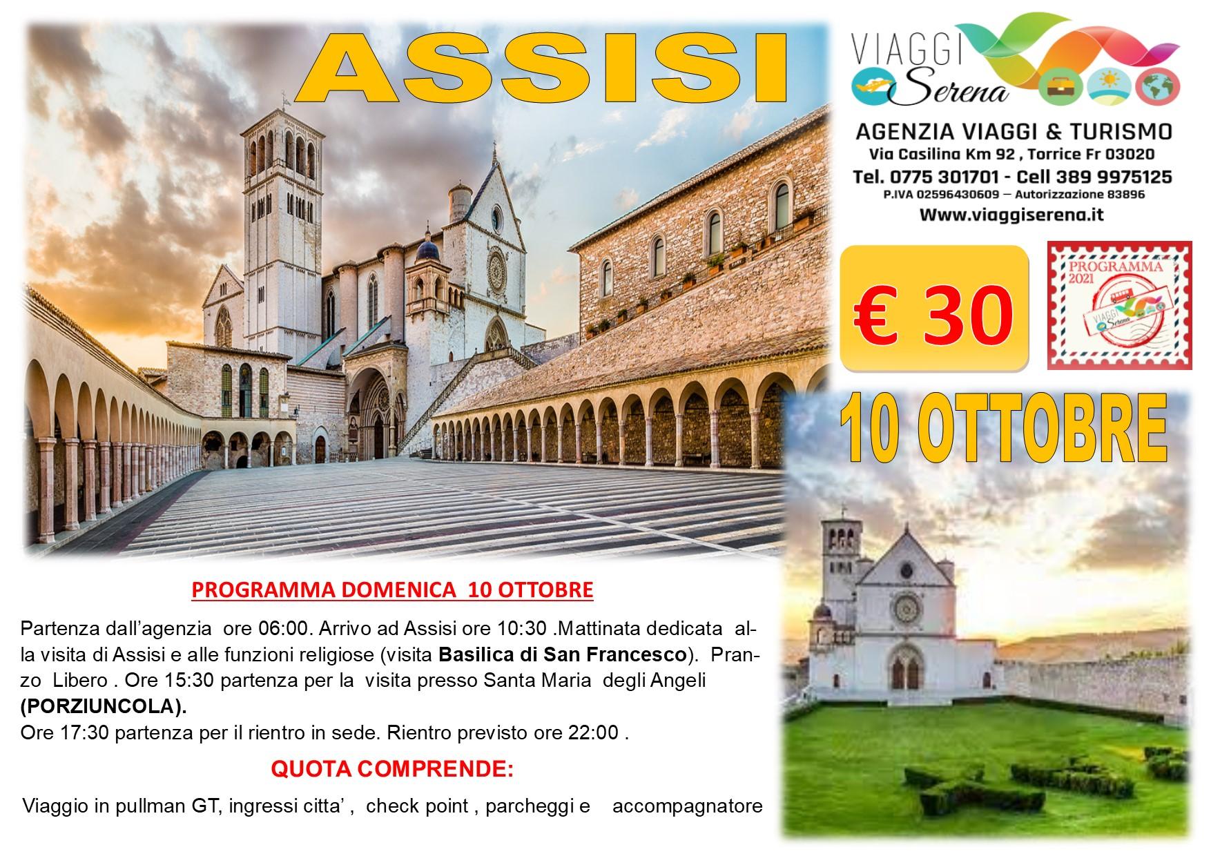 """Viaggi di Gruppo: ASSISI """"San Francesco """" 10 Ottobre € 30,00"""