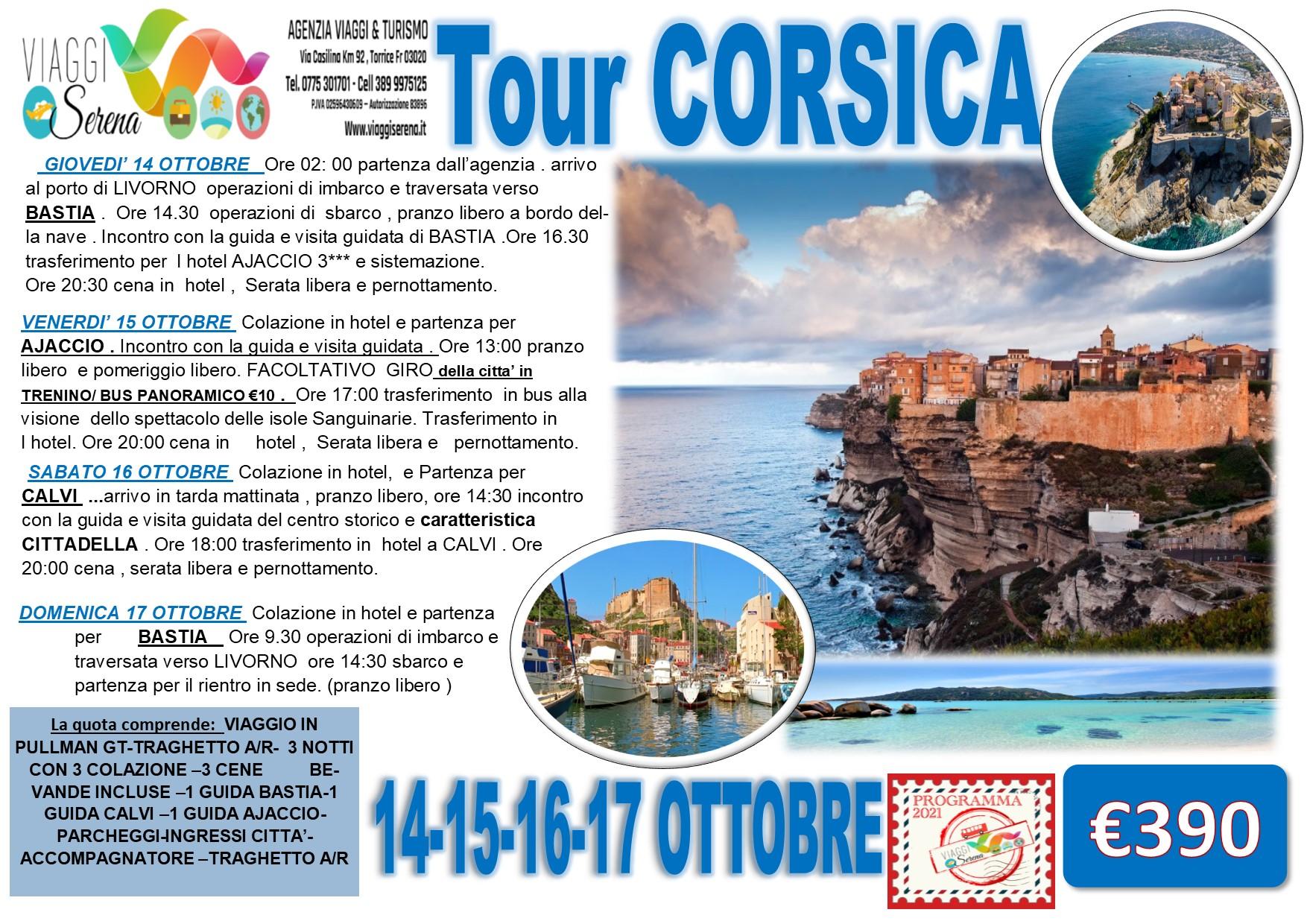 Viaggi di Gruppo: Tour CORSICA, Ajaccio, Bastia & Calvi  14-15-16-17 Ottobre  €390,00