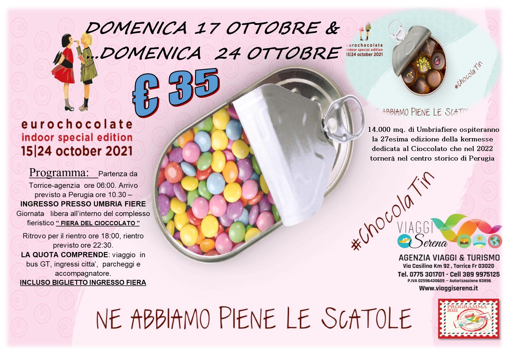 """Viaggi di Gruppo: EUROCHOCOLATE  """"Fiera del Cioccolato"""" 17 & 24  Ottobre  € 35,00"""