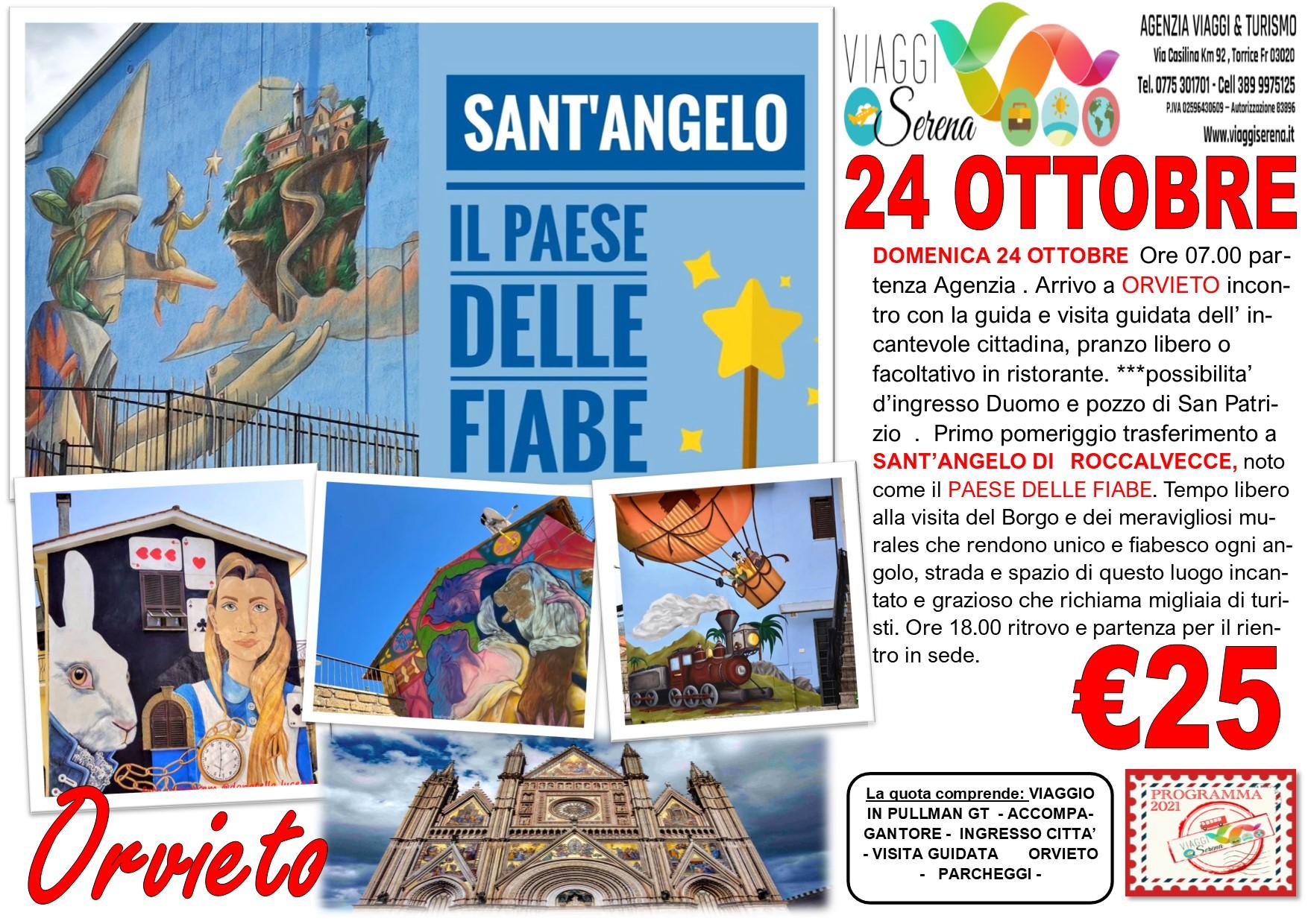 """Viaggi di Gruppo: Sant' Angelo il """"PAESE DELLE FIABE"""" & Orvieto 24 Ottobre € 25,00"""