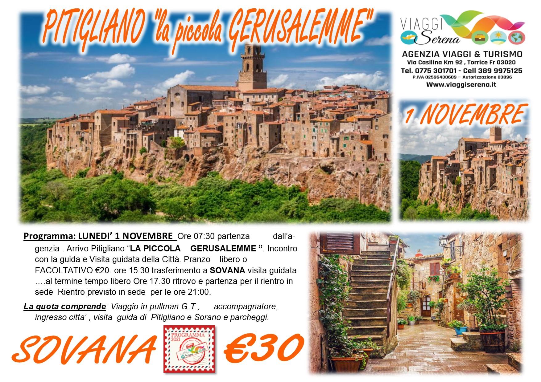 """Viaggi di Gruppo: Pitigliano """"la Piccola Gerusalemme"""" & Sovana 1 Novembre € 30,00"""
