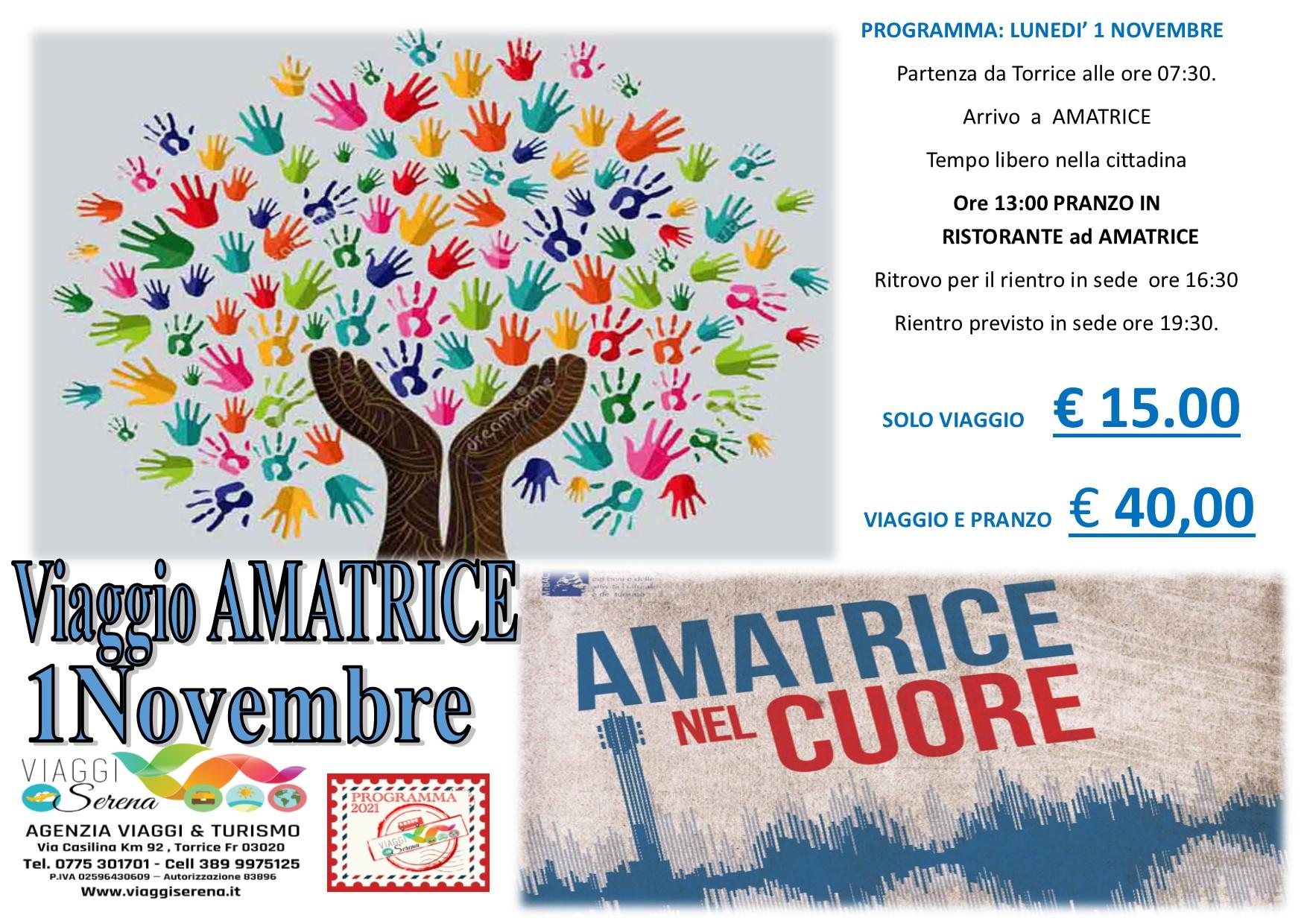 """Viaggi di Gruppo: AMATRICE """"un viaggio di Solidarieta' """" 1 Novembre € 15,00"""
