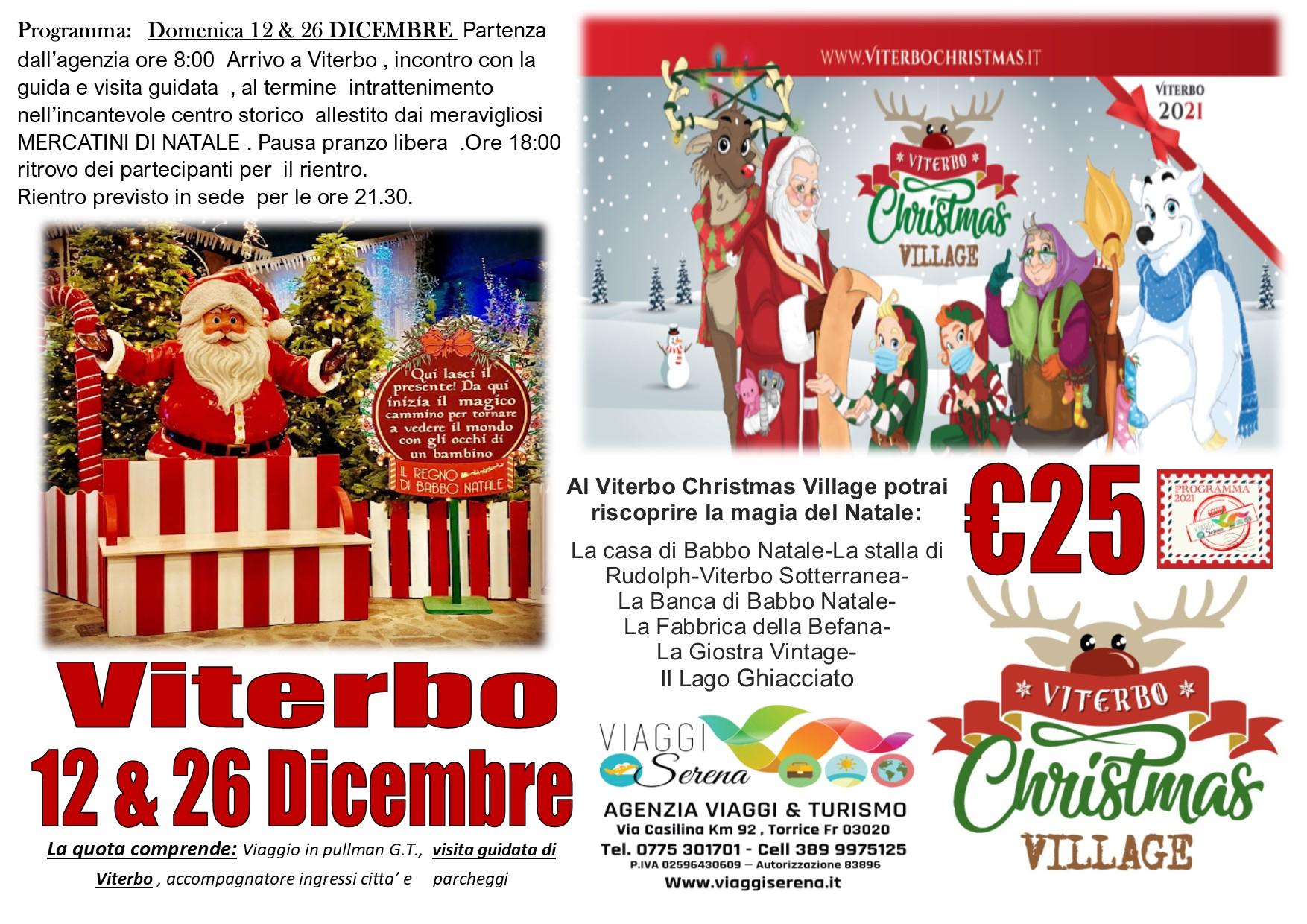 Viaggi di Gruppo: VITERBO Christmas Village 12 Dicembre € 25,00