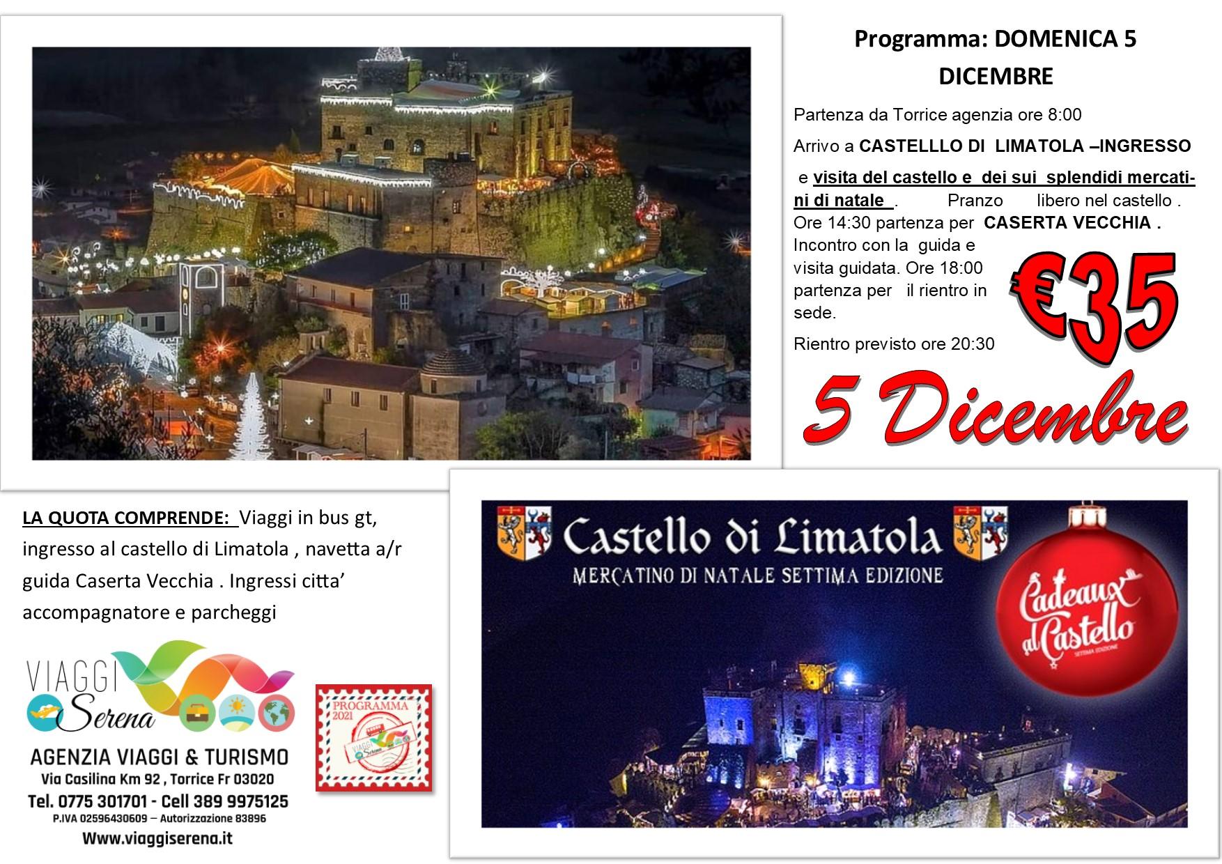 """Viaggi di Gruppo: Castello di Limatola """" Mercatini di Natale"""" & Caserta Vecchia 5 Dicembre € 35,00"""